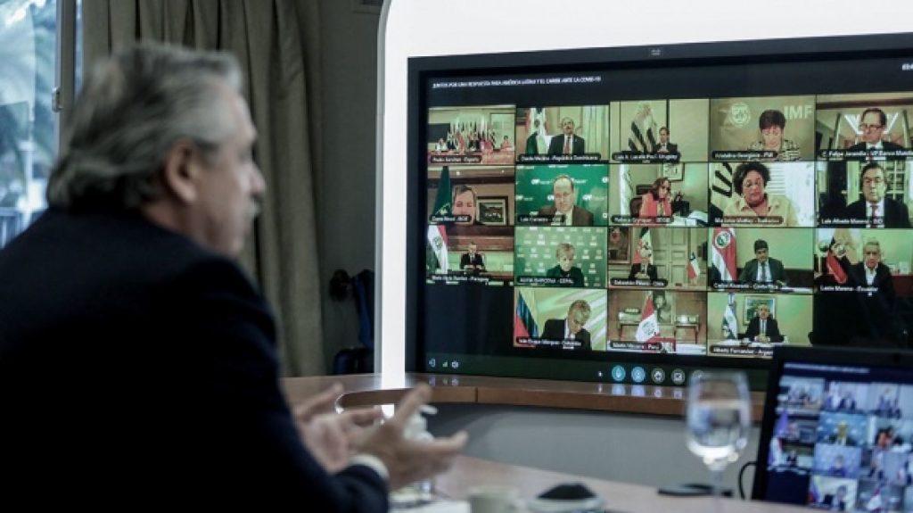 Fernández participa de la cumbre virtual del Mercosur