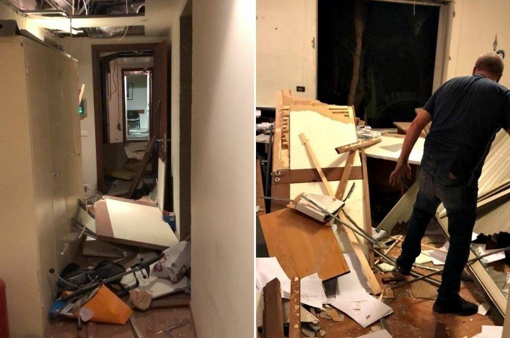 La Embajada argentina en Beirut sufrió graves daños, no hay heridos ni muertos