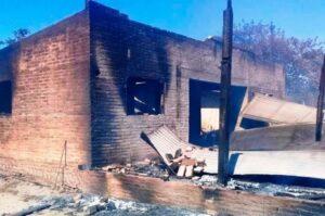 Formosa: Mató a su esposa e hijo, incendió la casa y se quitó la vida